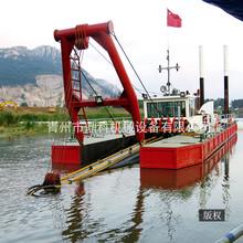 12寸全液压绞吸船现货出售河道水库清淤疏浚挖泥船图片