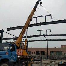 大型厂房铁棚制作钢架彩钢板隔墙施工图片