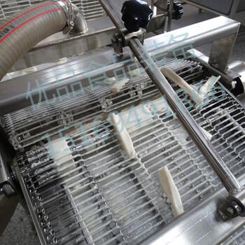 藕条油炸生产线茄盒油炸机上浆油炸生产线