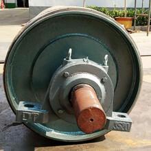碳钢无动力滚筒包胶滚筒橡胶输送带配件图片