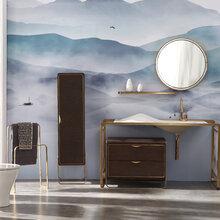 宜来卫浴:浴室逼格提升,全靠这套柜子
