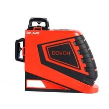 供應度維12線激光水平儀貼墻儀DV360S精準線體明亮耐電防摔防水建筑工必備圖片