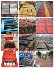大型全自动免烧砖机生产线设备彩砖机马路花砖机设备图片