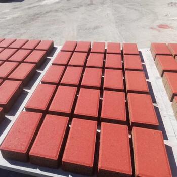小型3-15面包磚機海綿透水磚機設備條紋步道路面彩磚機