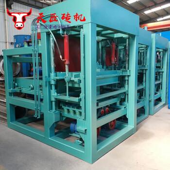 陕西宝鸡市5-15全自动制砖机面包透水砖成型设备建材生产加工