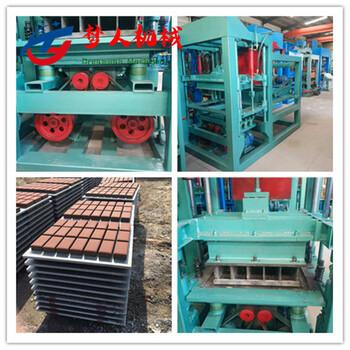 梦人10-15全自动砌块机水泥垫块机路面彩砖机面包砖机步道砖机
