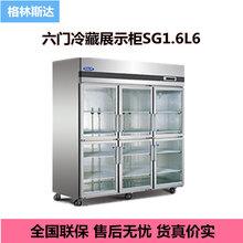 格林斯达六门展示柜SG1.6L6六玻璃门冷藏展示柜星星标准B款保鲜柜图片