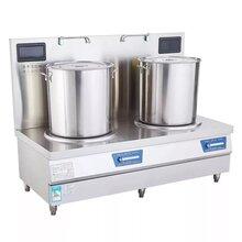 LIZE商用電磁爐15KW雙頭電磁煲湯爐廚房電磁低湯灶圖片