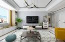 棗莊城市人家中興世紀城138m2現代簡約裝修方案,簡潔大方、優雅寧靜!圖片
