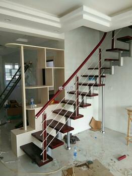 长沙复式楼梯-整体楼梯定制-钢木结构旋转楼梯适用于跃层和阁楼