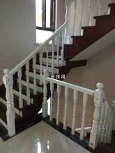 長沙實木樓梯廠家:實木樓梯扶手、別墅復式整體樓梯圖片