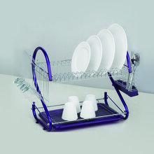 家用厨房餐具收纳架碗碟架厂家直销电镀碗筷沥水架图片