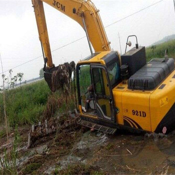 会宁水路两用挖掘机租赁一天多少钱