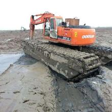 柳州水上挖掘机租赁一天多少钱图片