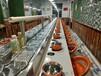 宜昌轉轉小火鍋設備廠家直銷回轉火鍋設備旋轉麻辣燙餐桌自動傳送火鍋設備