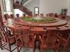 豪华电动圆桌椅批发酒店电动餐桌饭店手动大圆桌实木电动大餐桌