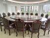 酒店大圆桌餐桌电动火锅餐桌电动转盘餐桌豪华餐桌椅樵森供应