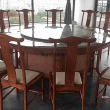 佛山家具厂生产电动餐桌自动转盘餐桌实木雕花电动餐桌餐椅