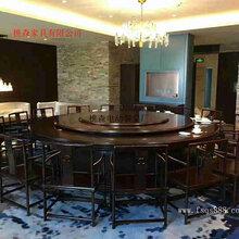 生产设计电动转盘餐桌新中式实木电动餐桌餐椅酒店大圆桌