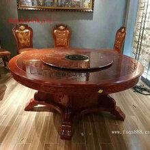 樵森厂家定制各种款式电动餐桌新中式大圆桌酒店电动餐桌餐椅