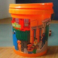 热转印厂家热转印塑料桶印刷机器设备PP塑料桶印刷转印花膜图片