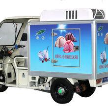 绿科冷冻运输售卖车电动三轮冷运车冷冻电瓶车保鲜车小型冷链车速冻雪糕冷鲜运输车图片