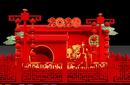 西安元旦春节新年商场美陈制作工厂、免费设计方案图片