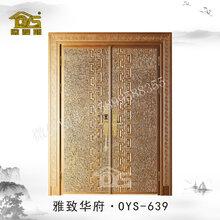 高端铸铝防爆门入户门防盗门仿铜门铜门铸铝大门智能门图片