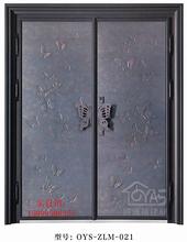 欧雅斯别墅优游注册平台入户门对开大门智能指纹开锁铝合金大门图片