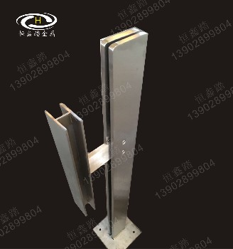 304工程立柱廠家走廊護欄立柱定做玻璃欄桿柱子不銹鋼立柱