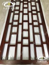 酒店包间不锈钢格栅不锈钢满焊木饰面隔断__不锈钢木纹屏风