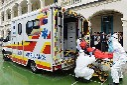 前郭尔罗斯蒙古族自治跨省120救护车出租出院接送图片