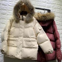 义乌冬季品牌折扣女装棉衣女式尾货修身连帽糖果色羽绒棉服外套女图片