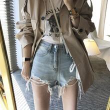 彈力彩色短褲韓版明星女式牛仔短褲胖妹大碼外貿牛仔短褲女圖片
