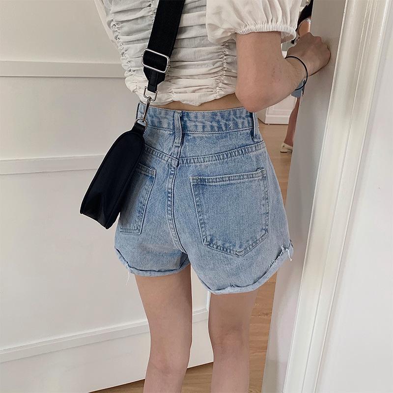 湖北天门牛仔短裤女夏2018新款品牌尾单批发步行东大门牛仔女短裤