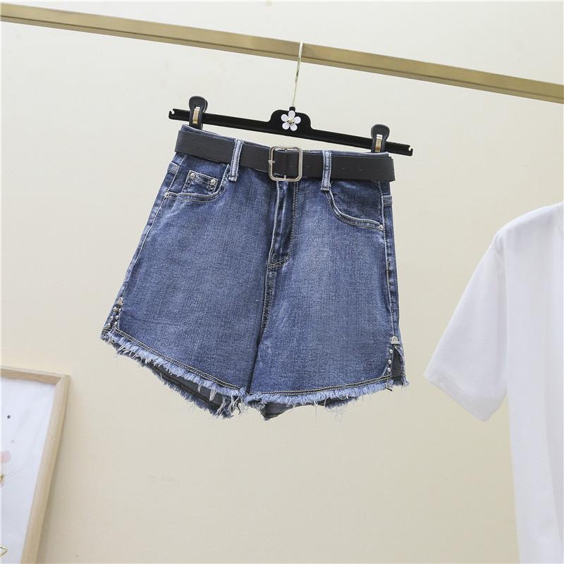 重慶墊江牛仔短褲女士五分地攤衣服去哪里進貨破洞排扣牛仔短褲女夏