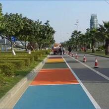 彩色透水混凝土,武汉透水地坪材料施工,艺术压花地坪图片