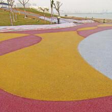 彩色透水沥青,艺术压花地坪,彩色透水混凝土产品图片