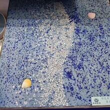 玉林市游泳馆艺术洗砂面地坪施工彩色洗砂面技术指导图片