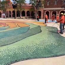重庆洗砂地坪工艺洗砂地坪施工流程砾石洗砂地坪材料图片