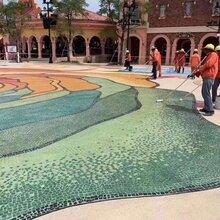 焦作市彩色户外混凝土艺术压模地坪洗砂地坪厂家