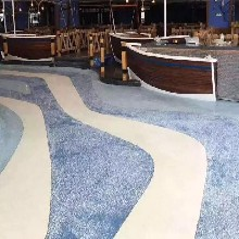 河南信阳市彩色聚合物洗砂地坪材料生产砾石地坪包工包料