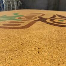 崇州市彩色聚合物洗砂地坪材料生产砾石地坪包工包料图片