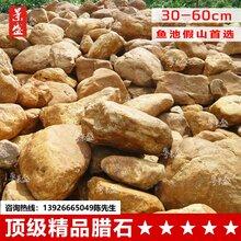 厂家供应广东英德黄蜡石原石批发大小型园林吨位风景观赏景观石图片