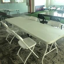全新急轉,折疊椅最低32一張,270五件套,低價清一批折疊桌椅,公司搬遷,低價處理圖片