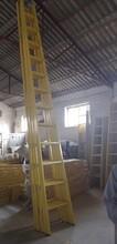 電力絕緣梯玻璃鋼絕緣單梯JYT方管絕緣梯子規格圖片