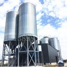小麥芽鋼板倉白酒廠常用裝配式鋼板倉原料儲存鋼板倉圖片