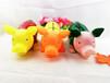 义乌搪胶玩具厂减压发泄水果猪草莓西瓜菠萝惨叫猪