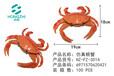 义乌泓智搪胶玩具仿真搪胶捏捏叫大小龙虾螃蟹海洋生物模型