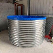新型帆布养殖鱼池圆形镀锌板帆布鱼池养殖专用